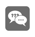 customer service icon with online dialog sign vector image