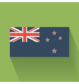 Flat flag of New Zealand vector image vector image