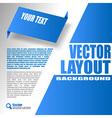 Blue Design vector image