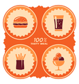 Fast food label vector image vector image