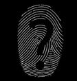 question mark on a fingerprint vector image vector image