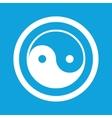 Ying yang sign icon vector image