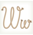 Rope alphabet Letter W vector image vector image