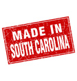 South Carolina red square grunge made in stamp vector image