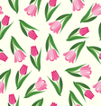 hand drawn background with tulips vector image