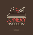 Joinery Icon Label vector image