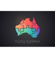 Australia logo Puzzle Australia Creative logo vector image