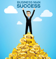 business man success vector image