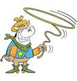 Cartoon Lariat Cow vector image