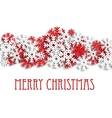Christmas snowy background with snowflakes vector image
