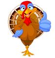 Cute turkey vector image