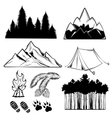 Forest Tattoo Element Set vector image