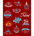 Travel banners and labels vector image