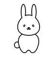 cute and tender rabbit kawaii style vector image