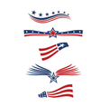 USA star flag design elements logo vector image vector image