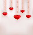 Background for Valentine Day with red hearts and vector image vector image