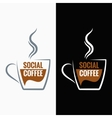coffee cup social media concept background vector image