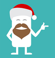 Animated personality Santa vector image vector image