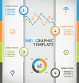 Infographic vertical vector image