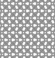 Dark gray circle interlocking ornament vector image