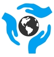Global Care Icon vector image