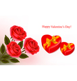 red roses and boxse vector image