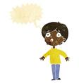 cartoon surprised man with speech bubble vector image