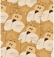 Amusing animation chubby cat Seamless pattern for vector image