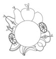 fruits round emblem vector image
