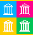 historical building four styles of vector image