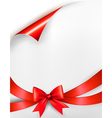 Holiday background with red gift glossy bow and vector image