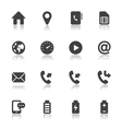 Mobile Phone Icons for application vector image