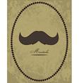 Moustache background vector image