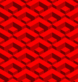 Red geometric 3D seamless pattern Abstract fabric vector image