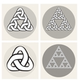 Set Of Four Celtic Interweaving Line vector image