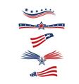 USA star flag design elements logo vector image
