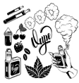 Vape Icon Set vector image