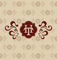 logo th letter business card vector image