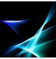Magic neon light curved lines vector image