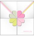 Valentine decorative card vector image