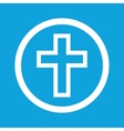 Christian cross sign icon vector image
