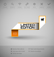 Banner with commerce business content vector image vector image