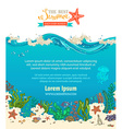 background of sealife vector image