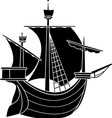 sailing vessel vector image