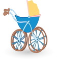 Baby stroller 01 resize vector image