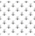 bee hand drawn seamless pattern monochrome vector image