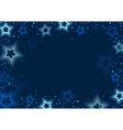 Blue Stars Background vector image