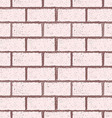 Brick wall seamless in grunge style vector image