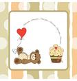 cute love card with teddy bear vector image