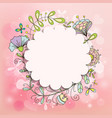frame doodle patterns us a beautiful pink vector image